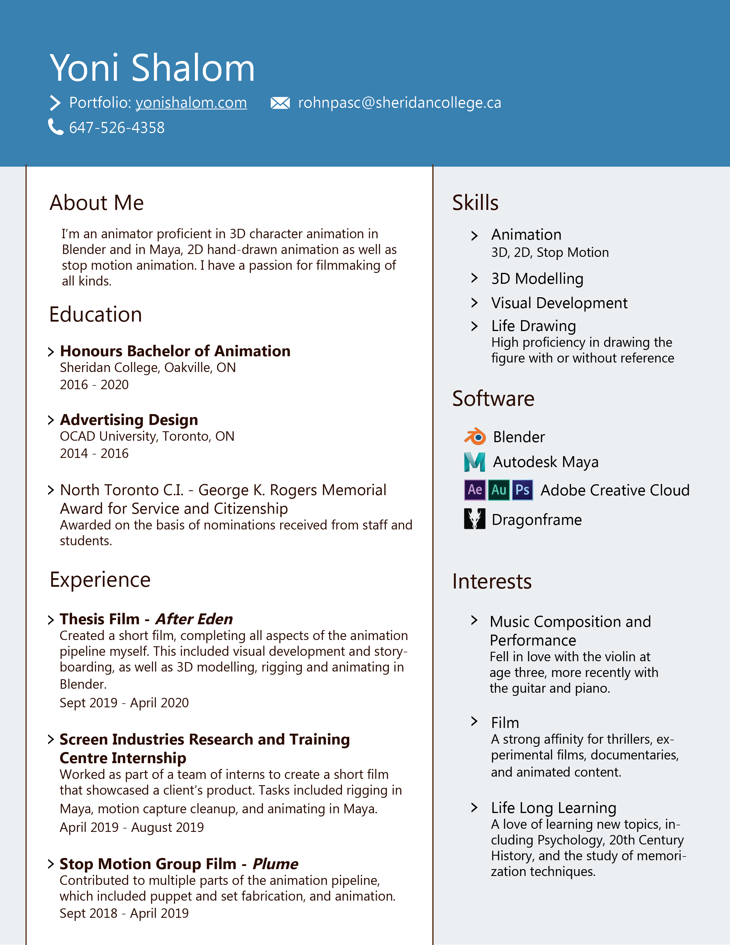 Yoni Shalom_Resume_April 2020_2